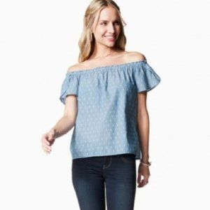Charming Charlie Off Shoulder Chambray Top